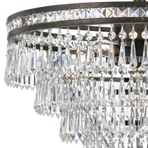 RH Style 1920s Odeon Clear Glass Crystal Round Chandelier $1500 - $707.85