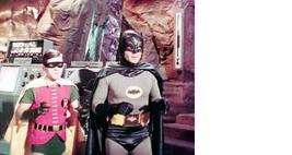Batman Cave Adam West Burt Ward Vintage 28X35 Color TV Memorabilia Photo - $45.95