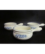 Pfaltzgraff Yorktowne 10 Oz Onion Soup 3 pc Set (Old Castle) USA No. 259 - $24.00