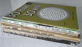 Music Piano Lesson Book Lot Teacher Exercises Guitar Vocal Crafts Scrapb... - $19.78