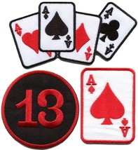 Lot of 3 poker ace of spades lucky 13 playing cards applique iron-on pat... - $4.94