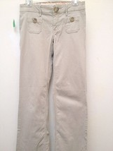 Old Navy 2 Corduroy Pants Khaki Beige Pinwale Stretch Ultra Low Rise Boot Cut - $14.67