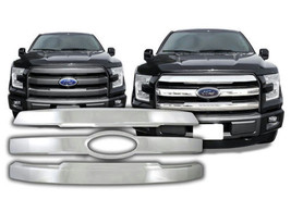 2015-2017 Ford F150 Lariat & King Ranch Chrome Plastic Grille Insert # G... - $134.99