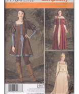 Simplicity 1773 Fantasy, Medieval, or Steampunk Sewing Pattern Sz H5 6-1... - $20.00