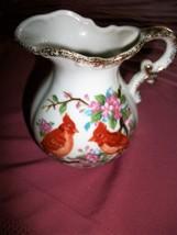 vintage  NORLEANS JAPAN Creamer Oriental Birds Pink Flowers - $17.99