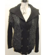 AX Armani Exchange Women Sweater Carpet Black XS Double Breasted Wool Co... - $34.57