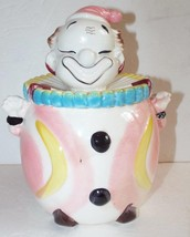 Vintage CLOWN JAR Hand-Painted Porcelain Art Pottery UCAGCO Japan Cookie... - $18.69
