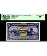 "TRINIDAD & TOBAGO P5b ""SAILING SHIPS ON HARBOUR"" 1939 $1 ""PORT OF SPAIN""... - $295.00"
