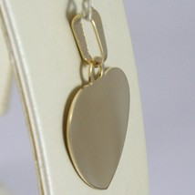 18K YELLOW GOLD HEART, PHOTO & TEXT ENGRAVED PERSONALIZED PENDANT 22 MM, MEDAL image 2