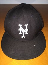 Era 59fifty Black New York Yankees Adult Fitted Hat Authentic - $14.84