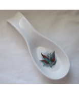 Spoon Rest White Ceramic Peppers Design by Corn... - $5.99