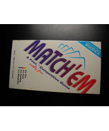 Match' Em 1997 Jax Ltd Ages 7 and Up 2 to 4 Players Factory Shrink Wrapp... - $12.99