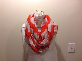 2 New Infinity Scarves Vertical Strip White Orange Vertical Strip Blue S... - $40.58