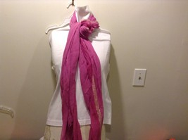 New Scarf Pink with White Gold Toned Trim