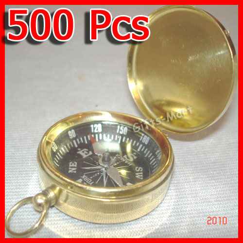 Brass COMPASS with Lid Wholesale LOT of 500 pcs Nautical Marine Pirate Key Chain