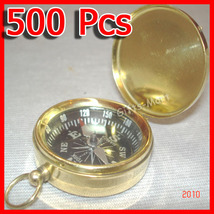 Brass COMPASS with Lid Wholesale LOT of 500 pcs Nautical Marine Pirate K... - $1,099.00