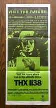 *George Lucas' THX 1138 (1971) Original Release Australian Daybill Poster - $200.00