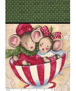 1 Merry Mice Large Square,1 Matching Quilt Shop... - $11.27
