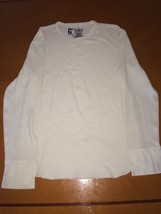 Men's Kid's Gap Thermal Beige Long Sleeve Shirt Shirts Size M Cotton - $9.79