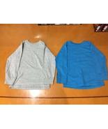 Lot of 2 Boys Kids Fruit of Loom Blue & Gray Solid Long Sleeve Shirts Sz... - $9.89
