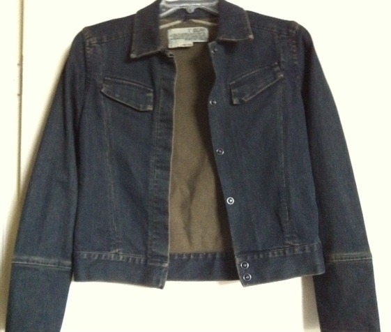 "ROGAN NYC ladies DENIM JACKET jean ""GARRETT"" structured RARE NEW Barneys S $380+"