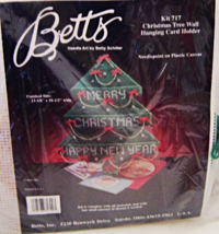 Christmas Tree Wall Hanging Card Holder Betts Plastic Canvas Kit Complet... - $24.99