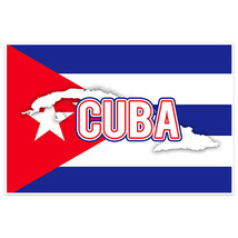 Cuba Flag With Country Text Wall Art Poster - $18.32