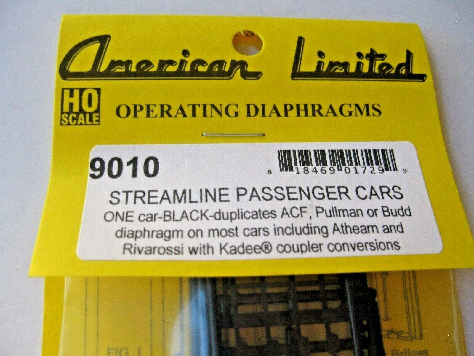 American Limited #9010 Streamline Passenger Car Diaphragms for 1 Car HO-Scale
