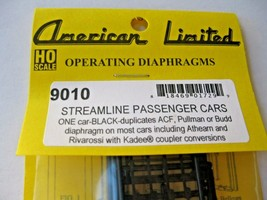 American Limited #9010 Streamline Passenger Car Diaphragms for 1 Car HO-Scale image 1