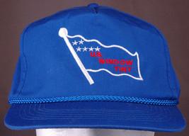 Vtg U.S. Window Tint Hat-Blue-Rope Bill-Snapback-Embroidered-Trucker-Fla... - $28.04