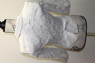 Club Monaco Of Ralph Lauren Group Women Brocade Metallic White Blazer Cropped 0