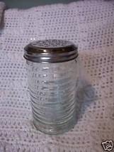 "Parmesan Cheese Glass Sprinkle Jar 5"" tall NEW - $5.86"