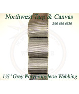 """Webbing, 1½"""" Inch Wide Grey Polypropylene Sold By-The-Yard 36"""" Uncut Len... - $1.19"""