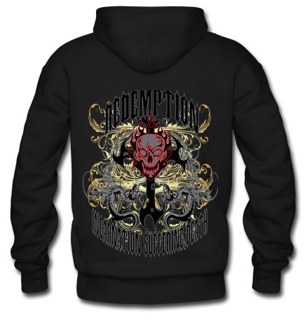 Redemption Custom Black Men's Hoodie