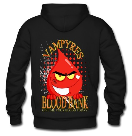 Vampyres Blood Bank Custom Black Men's Hoodie