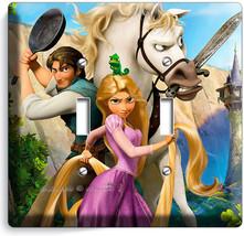 Rapunzel Flynn Tangled Movie 2 Gang Light Switch Cover Girl Play Room Home Decor - $9.71