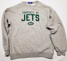 Reebok NFL Football Youth Boys New York Jets Sweatshirt Crew No Hood Gre... - €12,74 EUR