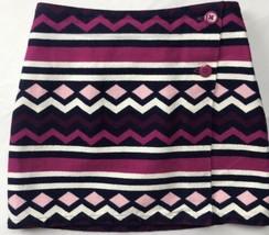 Gymboree Girls Sz 6 Tweed Fall Winter Skirt Pink Blue Purple White Geome... - $36.01