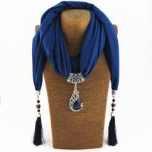 FNQUFUJ Unique Ethnic Vintage Ladies Scarf with Fringe Tassels, Beads an... - $14.99
