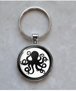 Octopus Silhouette Spy Secret Agent Keychain - $14.00+