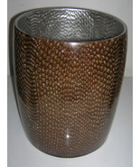 Brand New Bed Bath & Beyond decorative brown Waste basket bathroom acces... - $44.54