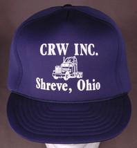 Vtg CRW Inc. Hat-Shreve Ohio-Dark Blue-Rope Bill-All Foam-Trucker-Snapba... - $28.04