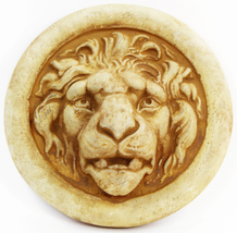 Lion Medallon Concrete Wall Plaque - $37.00