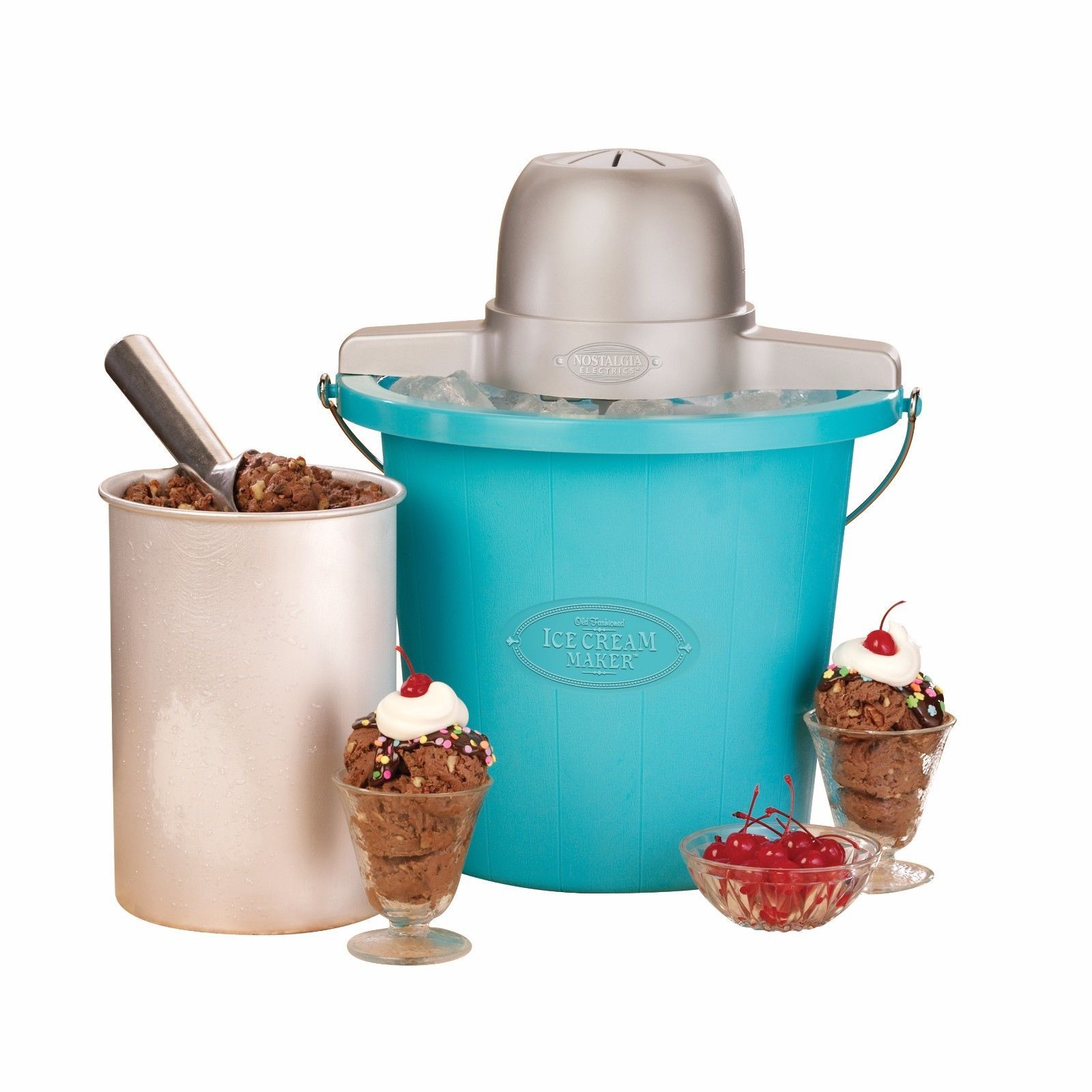 Ice Cream Maker For Kids Nostalgia Homemade 4 Quart Countertop Portable Electric