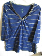 PALM HARBOR TOP SIZE PS BLUE / GOLD NWT - $12.99