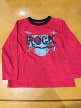 "Boys Kids The Children's Place Red ""ROCK"" Long Sleeve Shirt Size 5/6 - $4.94"