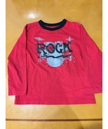 """Boys Kids The Children's Place Red """"ROCK"""" Long Sleeve Shirt Size 5/6 - $4.94"""