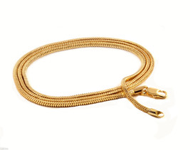 "Mens 30"" Inch 18k Gold Plated Finished 3mm Slim Snake Hip-Hop Chain Neck... - $12.86"