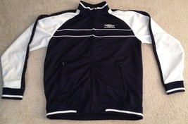 Umbro Soccer Warmup Track Jacket Full Zip White and Purple Men's Large - $19.99