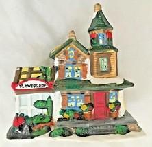 """Ceramic 5"""" Flower Shop Village House Figurine - $13.37"""